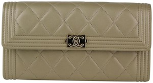Chanel Chanel Champagne Gold Caviar Boy Wallet