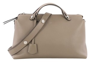 Fendi Leather Satchel in taupe