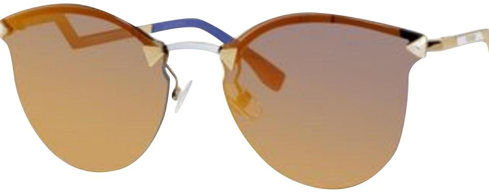 9bc7e37e13 Fendi Gold 0040 Cat Eye Mirrored Sunglasses - Tradesy