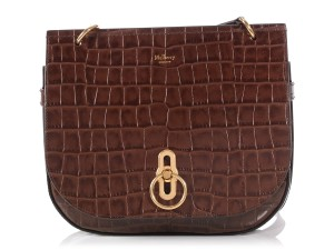 b619f91886b1 Mulberry Ml.p1019.23 Croc Stamped Amberley Small BROWN Messenger Bag