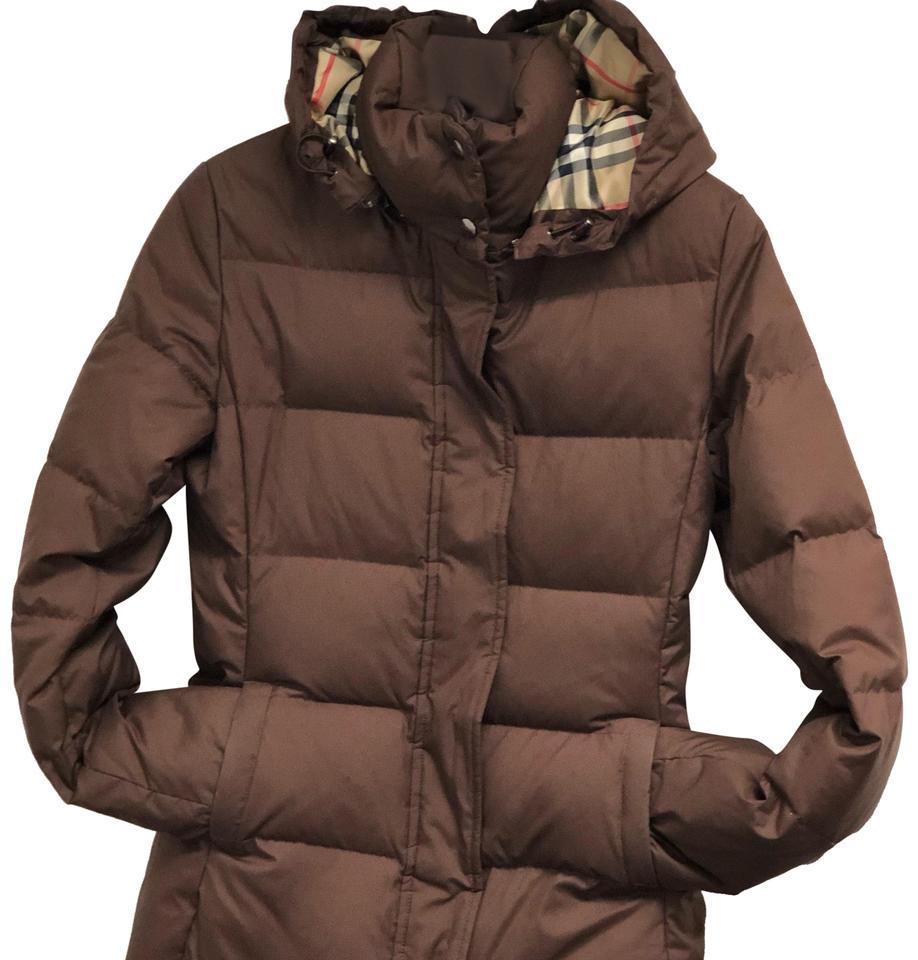 83dca1e20712 Burberry Brown An Insulated Goose Down and Feather-filled Puffer ...