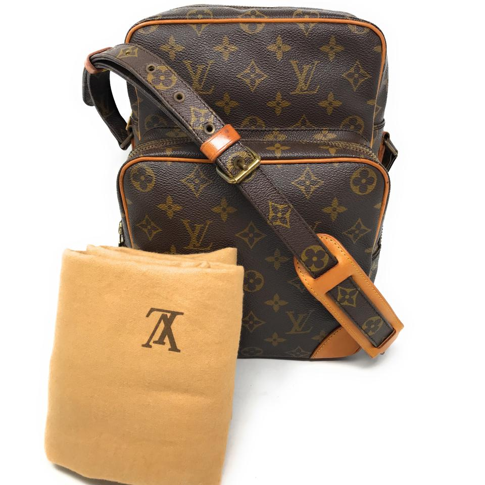 7a1e83eecff9 Louis Vuitton Amazon Gm Large-rare Brown Monogram Canvas Leather ...