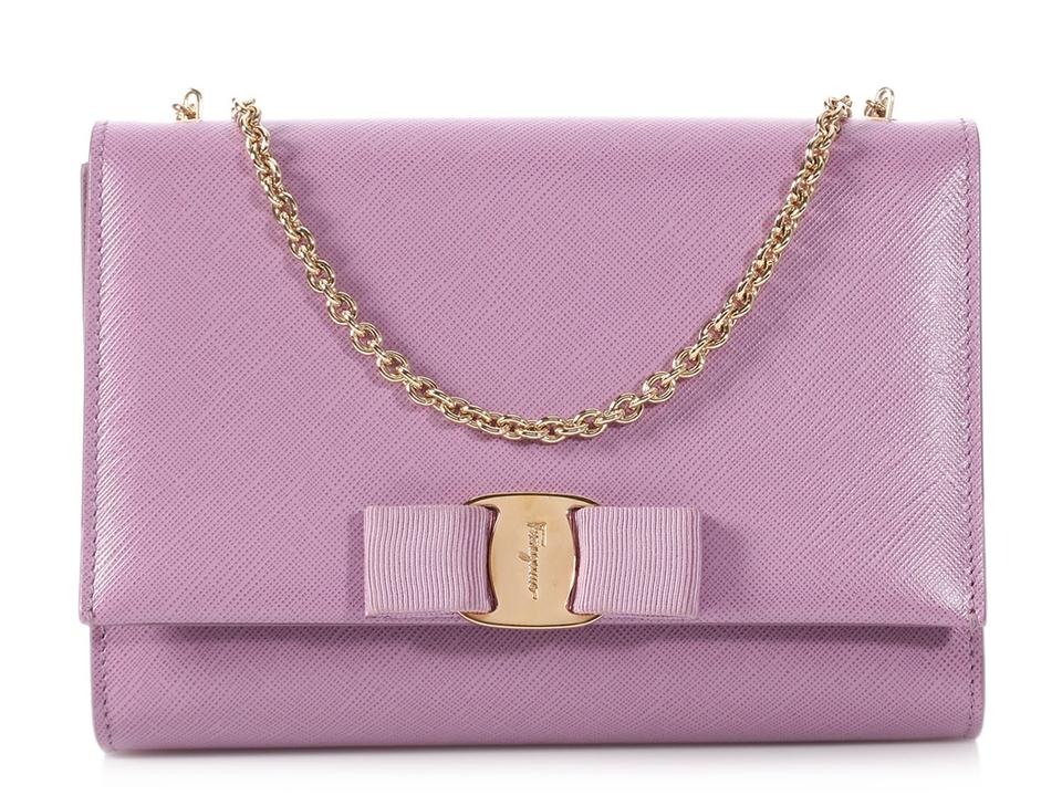 7d72155cee63 Salvatore Ferragamo Sf.p1019.18 Lavender Mini Vera Reduced Price Purple  Messenger Bag ...