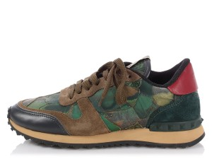 Valentino Vl.p1012.13 Camo Rockrunner Butterfly Sneakers Green Athletic