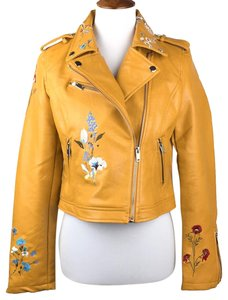 Romeo & Juliet Couture Floral Embroidered Moto Motorcycle Jacket