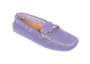 The Original Car Shoe Prada Patent Leather Moccasins Lavender Flats