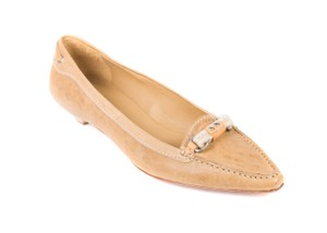 The Original Car Shoe Prada Suede Tan Flats