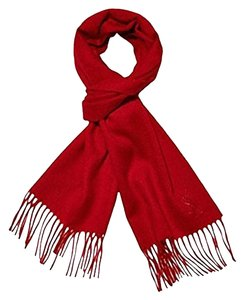 8b466f057 Saint Laurent Red Ysl Yves Wool Cashmere Women's Winter Scarf/Wrap