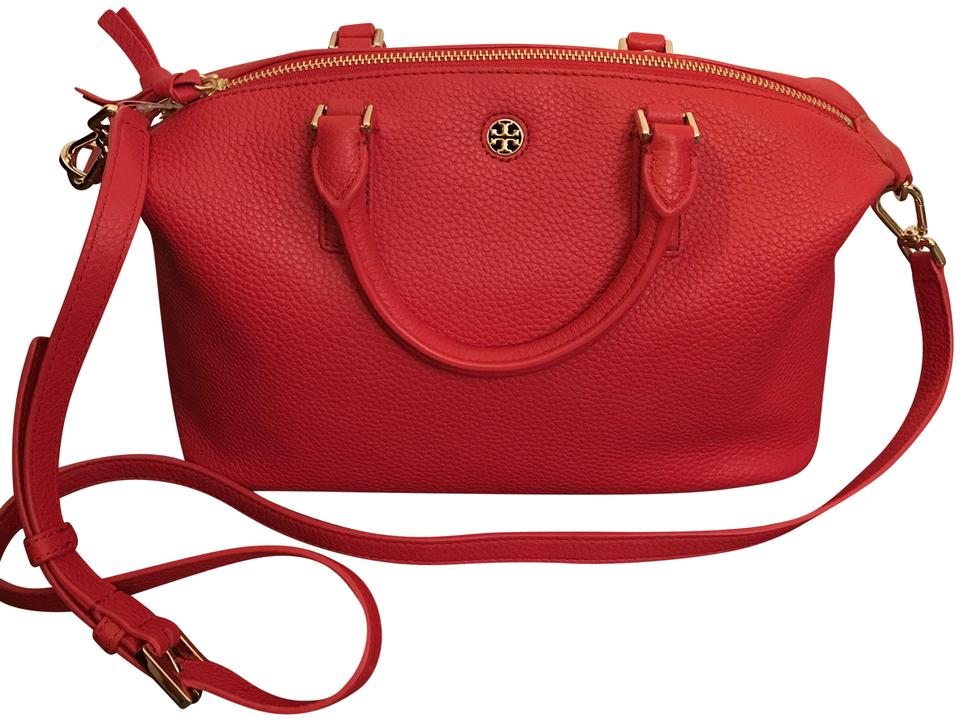 51c81bf1779 Tory Burch Brody Small Slouchy Liberty Red Leather Satchel - Tradesy