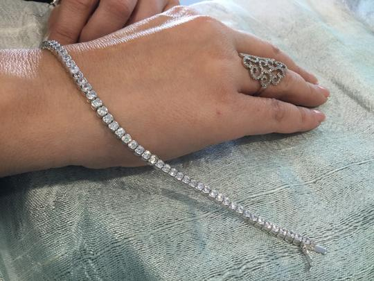 Silver With Stones. Bracelet