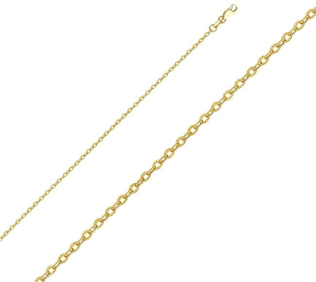 "Top Gold & Diamond Jewelry Yellow 14k 2.3 Mm Sunny Cable Cut Chain - 16"" Necklace Top Gold & Diamond Jewelry Yellow 14k 2.3 Mm Sunny Cable Cut Chain - 16"" Necklace Image 1"