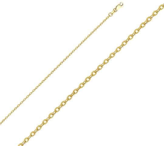 Preload https://img-static.tradesy.com/item/24344767/yellow-14k-23-mm-sunny-cable-cut-chain-18-necklace-0-1-540-540.jpg