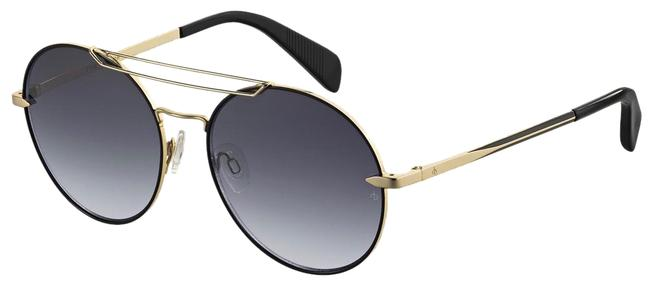 Rag & Bone Black Gold Round Vittoria Rnb1011/S Sunglasses Rag & Bone Black Gold Round Vittoria Rnb1011/S Sunglasses Image 1
