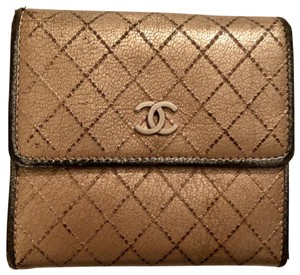 Chanel Chanel metallic Gold Silver Wallet