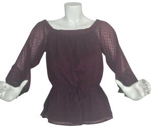Abercrombie & Fitch Top Burgundy
