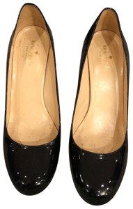 Kate Spade Current Classic Leather Black Patent Pumps