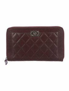 Chanel CHANEL Quilted Boy Travel Organizer Zippered Wallet