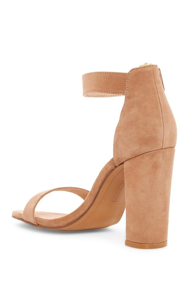 4420e92d2db Steven by Steve Madden Brown Leather blush sued Sandals Image 2. 123