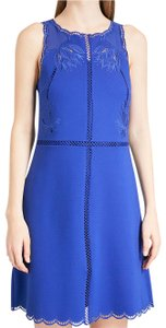1e9db84369bf75 Ted Baker short dress Blue Embroidered Scalloped Cut-out Royal Jewel Tone  on Tradesy