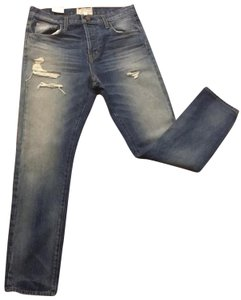 Current/Elliott Slouchy Highwasted Distressed Skinny Jeans-Distressed