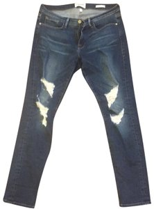 FRAME Distressed Denim Skinny Jeans