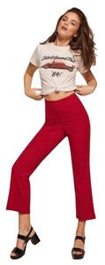 Reformation Wide Leg Pants Red