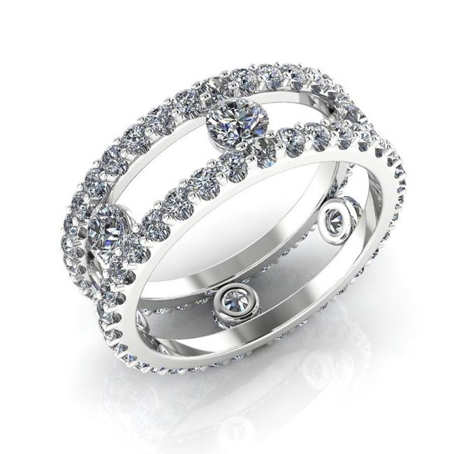 Item - White Gold 14k and Diamonds Open Space Brilliant Eternity 6.5 Ring