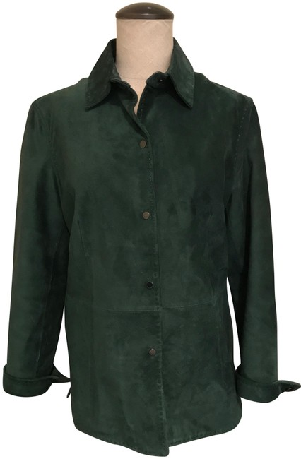 Item - Dark Green Washable Suede Small Jacket Size 4 (S)