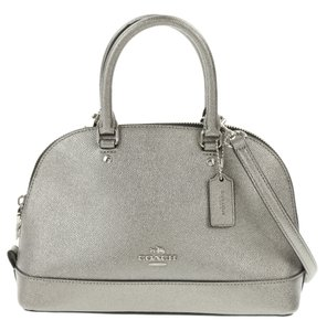 Coach Metallic Gunmetal Satchel in Silver