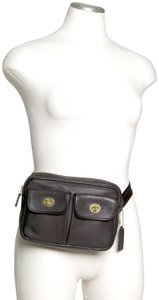 Coach Fanny Leather Waist Turnlock Baguette