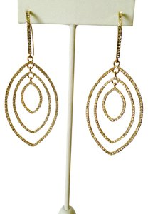 Neiman Marcus Pave' Cubic Zirconia Multi-Diamond Dangle Earrings