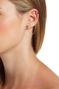 House of Harlow 1960 House of Harlow 1960 Clear Rhinestone Accented Pyramid Ear Cuff & Stud