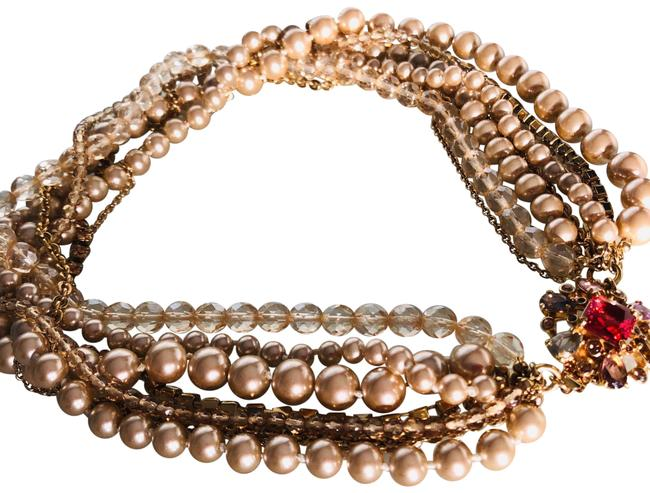 Item - Gold 8 Strand Pearl Necklace