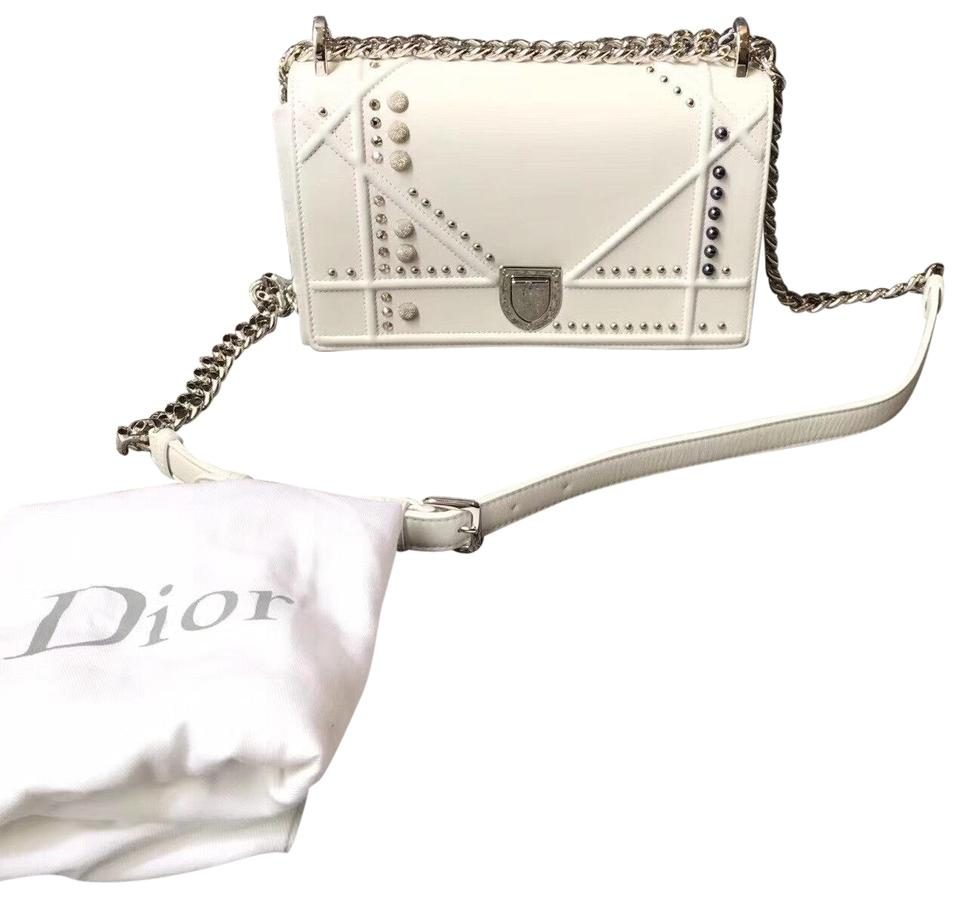 3bceba47983e Dior Small Diorama In Off-white Studded with Large Cannage Design ...