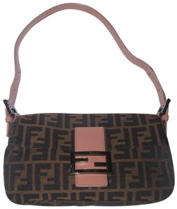 Fendi Popular Style Tobacco Zucca Accents Has Card & Dust Excellent Condition Shoulder Bag