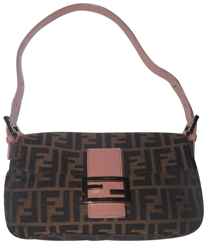 e1bb4bcacec4 Fendi Popular Style Tobacco Zucca Accents Has Card   Dust Excellent  Condition Shoulder Bag Image 0 ...