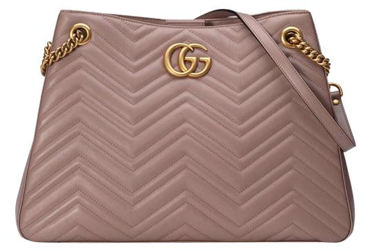 Gucci Marmont Rose Quilted Medium Matelasse Chain Tote