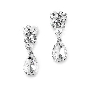 Mariell Crystal Bridal Or Prom Earrings 4192e-cr