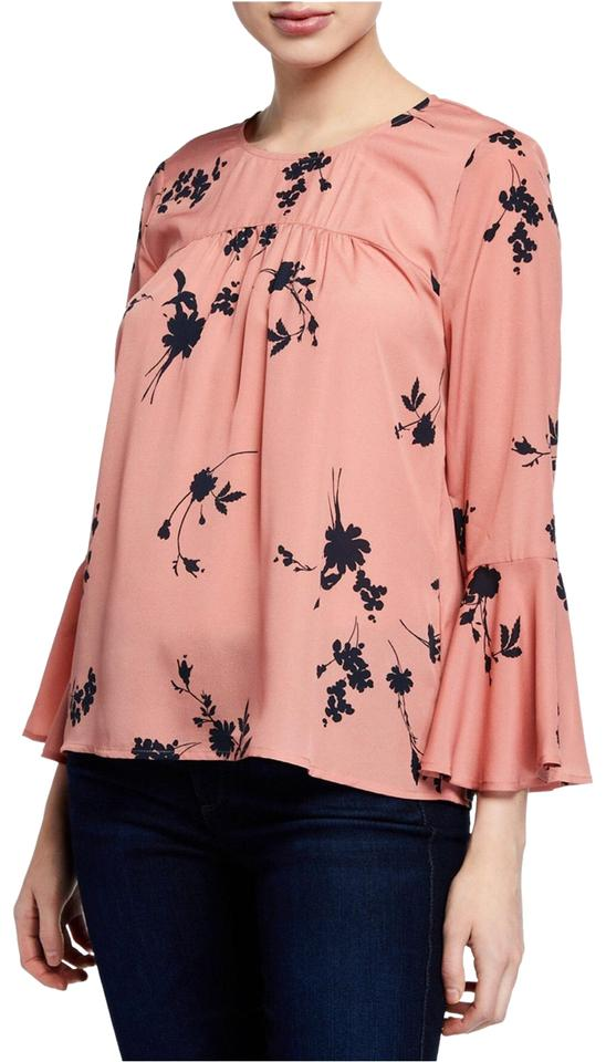 80717f983a3 Joie Pink Awilda Floral Bell Sleeve Silk Blouse Size 2 (XS) - Tradesy