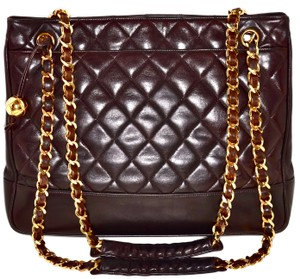 Chanel Quilted Caviar Leather Tote Shoulder Bag
