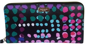 Kate Spade NEW KATE SPADE NEW YORK POLKA DOT CONTINENTAL ZIP WALLET BAG CLUTCH