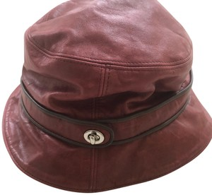 Coach Coach Authentic leather bucket hat authentic