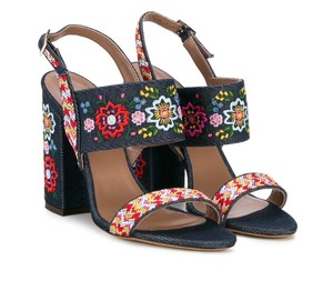 Tabitha Simmons Embroidered Multicolor Sandals