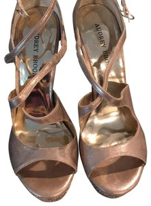Audrey Brooke gold man made Sandals