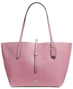 Coach Tote in Rose Pink/Gold