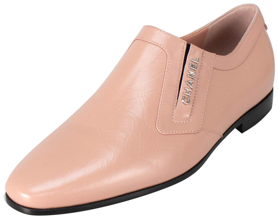 5a6b634f712 Chanel Pink Crumpled Calfskin Leather Loafers Flats Size EU 35.5 ...