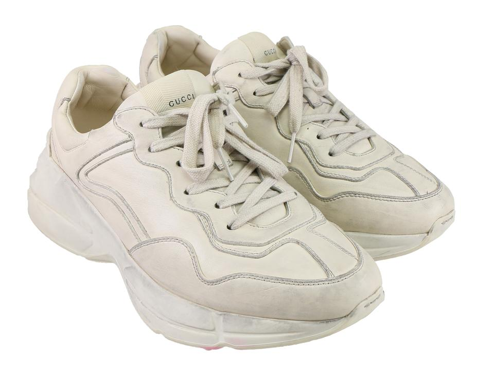 00121c4885f Gucci Beige Rhyton Leather Sneaker 498916 Shoes Image 0 ...