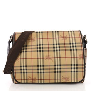 Burberry Canvas Haymarket Diaper Bag