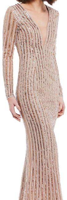 Item - Rose Gold/ Silver Long Formal Dress Size 12 (L)