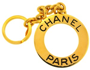 Chanel Chanel Gold Tone Key Chain